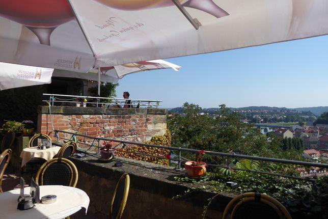 Ausblick von der Terrasse des Café am Dom